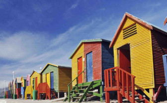 Multicoloured Beach Huts