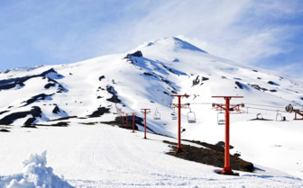 A Red Lift in Snowy Pucon