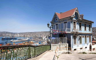An Old Colonial House in Valparaiso
