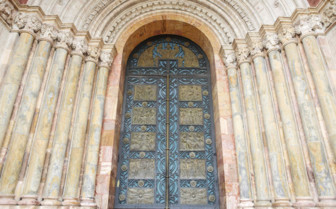 A Church Doorway in Cuenca