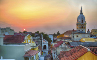 Colourful Cartagena at Sunrise