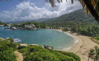 AErial of tayrona beach