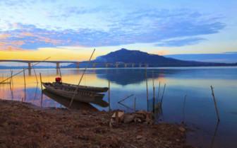 Serene Sunset in Mekong