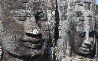 Carved Head at Angkor