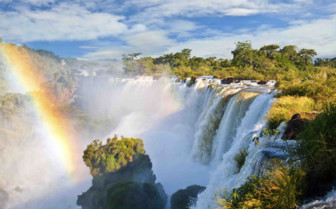 Iguacu Rainbow Waterfall