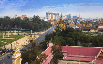 Aerial View of Phnom Penh
