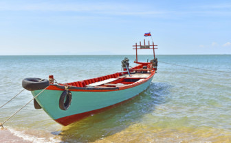 A Boat Moored in Kep