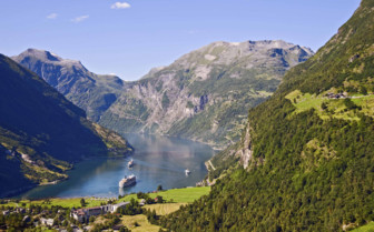Geirangerfjord in the Sunshine