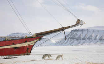 A Ship Trapped in the Arctic Ice