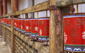 Red Prayer Wheels
