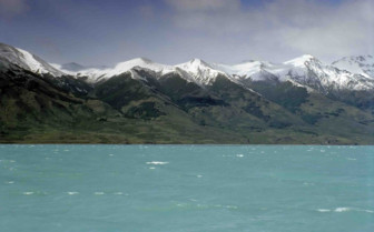 Lago Argentino on a windy day