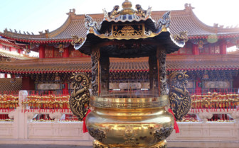 Incense Burner outside a Temple - China