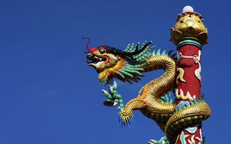 Dragon Sculpture at a Temple