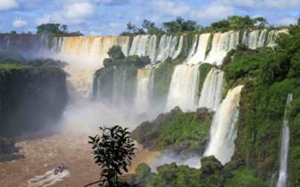 Double Waterfall Iguazu