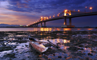 Mactan Bridge at Night - Philippines