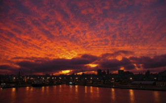 Sunset over Montevideo