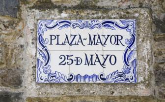 Plaza Major Sign