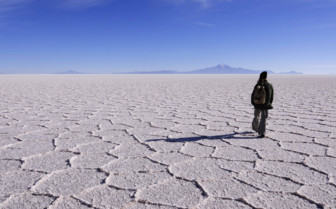 Walking in the Salt Flats