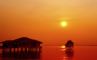 Red Sunset on Pangkor Laut