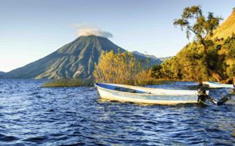 A Boat Bobs in Lake Atitlan