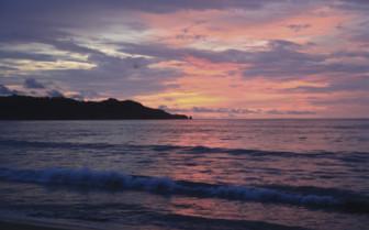 Sunset scene in Guanacaste province