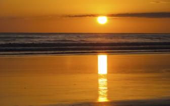 Golden sunset on North Pacific Coast