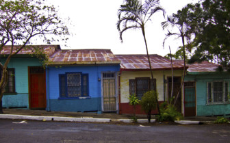 Colourful houses in San Jose
