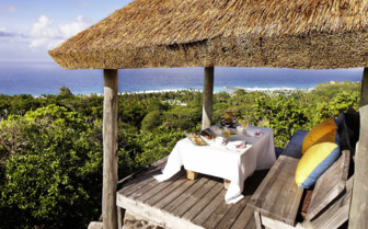 Private pavilion overlooking the ocean, Seychelles