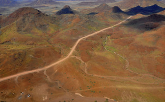 Aerial view of Damaraland