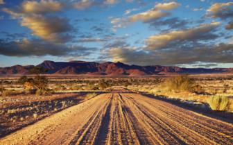 African desert road