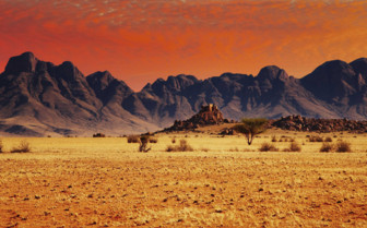 Red skies and sand dunes