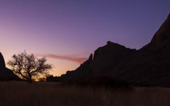 Sunset shadows in the Namib desert