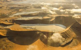 Aerial view of Namib desert
