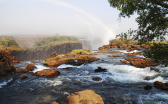 Victoria Falls river and rocks