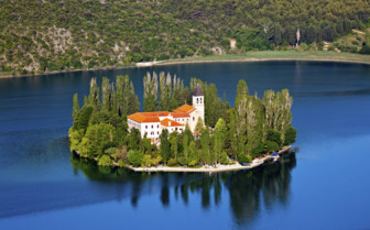 Croatia beautiful Visovac island