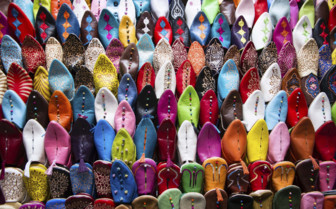 Colourful shoes in Morocco