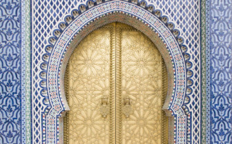 Fez Royal Palace gold doors