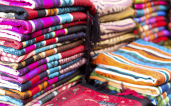 Scarfs at markets in Fez