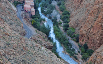 Gorge in the Atlas mountains