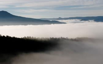 Mountains mist