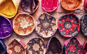 Leather souvenirs in Morocco