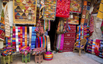 Colourful fabrics in Morocco