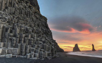 Basalt stacks in Iceland