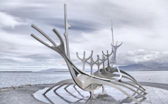 Famous sculpture in Reykjavik