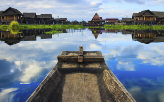 Inle Lake houses on stilts