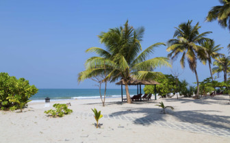 Ngwe Saung beach and trees