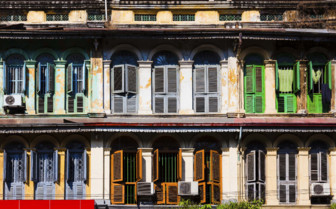 European style windows in Yangon