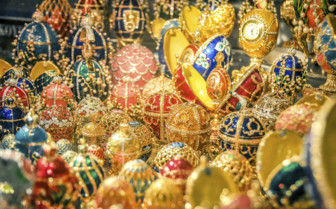 Faberge eggs in St Petersburg