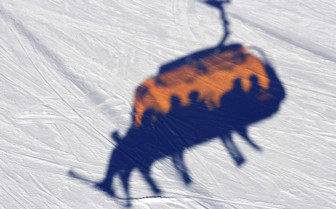 Chairlift shadow
