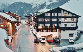 Zurs ski resort in Austria
